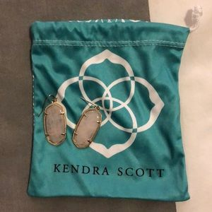 Kendra Scott Elle earrings in rose quartz/gold